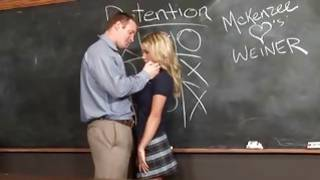 This hot teacher is showing this lovely bitch how to fuck extremely hard core