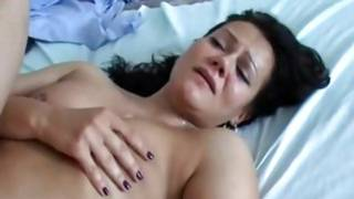 Girlie sweet girlfriend getting a fat sweetmeat up her booty hole from behind