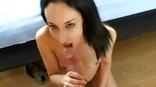 Long haired brown-haired gf on top of her dude's sugar-plum having sexy enjoyment