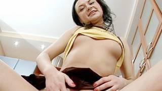 Sweet brunette beauty loves demonstrating her lovely cunt