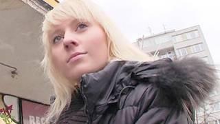Look at this sweet blonde on free hardcore porn walking seductive