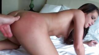 Fancy kinky hoe is getting her messed up doggie style with big snake
