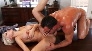 Nice young wench is furiously fucked