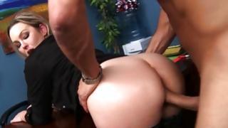Smutty slut got her hammered cruelly