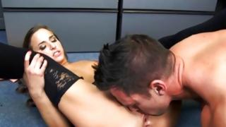 Marvelous wench is fucked by turned on dick