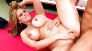 Blameless slut is used with raw coarse cock