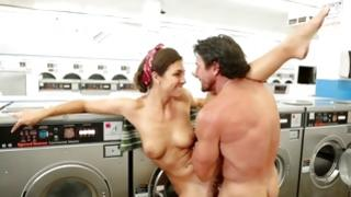 Slut receives her buggered in a laundry
