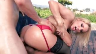 Blond misbehaving Mrs. is slammed wildly