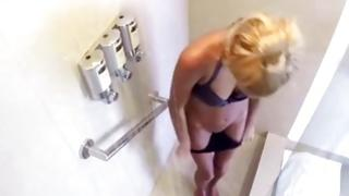 Bright-haired nasty sweetheart is showering her priceless human