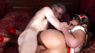 Astounding infant skank has glamorous dick up the butt spanking