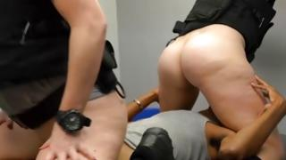 2 males 1 hotty sex with worthy prostitutes in police uniform