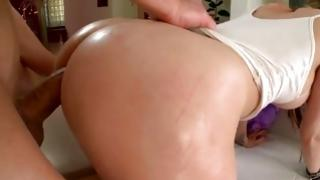 Supreme gal is advancing a nice smacking with her firm mister