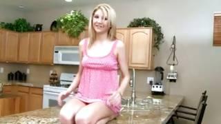 Sexy blonde slut wanna show her breasts