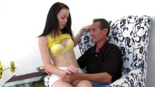 Bent over vicious lass is getting her screwed