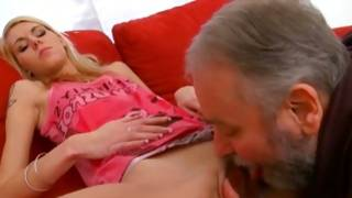 Blonde vicious slut is horny sucking juicy cock