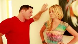 Light haired outrageous gf is groaning before a dude