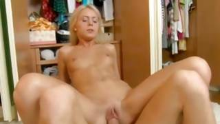 Sensational blond babe is screaming loudly